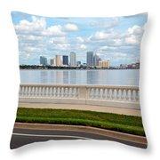 Bayshore Boulevard Throw Pillow
