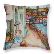 Bayside Bistro Throw Pillow