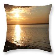 Bayville Sunset Throw Pillow by John Telfer