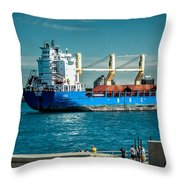 Bbc Elbe On St Clair River Throw Pillow