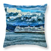 B.c. Ferries Hdr Throw Pillow