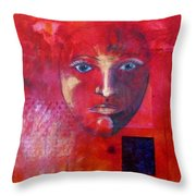 Be Golden Throw Pillow by Nancy Merkle