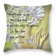 Be Grateful Throw Pillow