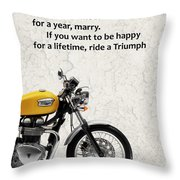Be Happy Triumph Throw Pillow