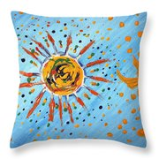 Be Like The Sun Throw Pillow