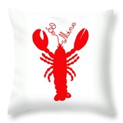 Be Mine Lobster With Feelers 20150207 Throw Pillow