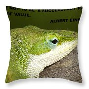 Be Of Value Throw Pillow