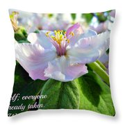 Be Yourself Flower Throw Pillow