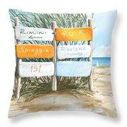Beach 151 Throw Pillow