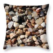 Beach Agates Throw Pillow by Carol Groenen