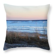 Beach And Ice Throw Pillow