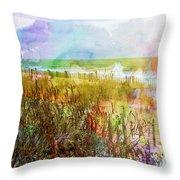 Beach Watercolor 1 Throw Pillow