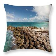Beach At Atlantis Resort Throw Pillow