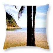 Beach At Ipanema - 2 Throw Pillow