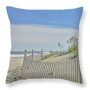 Beach At Outer Banks Throw Pillow