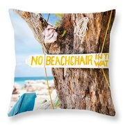 Beach At Rum Point Throw Pillow