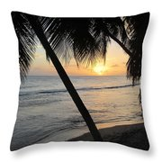 Beach At Sunset 4 Throw Pillow