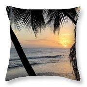 Beach At Sunset 5 Throw Pillow