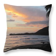 Beach At Sunset 6 Throw Pillow