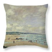 Beach At Trouville Throw Pillow
