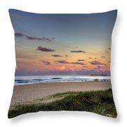 Beach At Twilight Throw Pillow