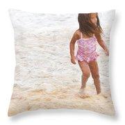 Beach Baby Throw Pillow