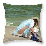 Beach Baby Throw Pillow