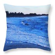 Beach Back Wash Throw Pillow