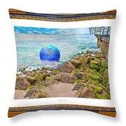 Beach Ball Dreamland Throw Pillow