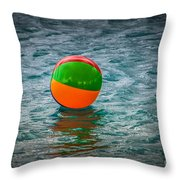 Beach Ball Float Throw Pillow