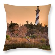 Beach Beacon Throw Pillow