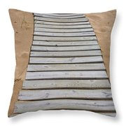 Beach Boardwalk Throw Pillow