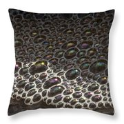 Beach Bubble Reflections Throw Pillow