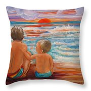 Beach Buddies II Throw Pillow