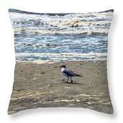 Beach Bum Throw Pillow