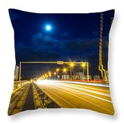 Beach Causeway Throw Pillow