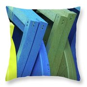 Beach Chair Palette 2 Throw Pillow