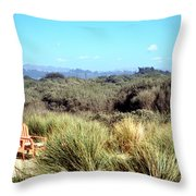 Beach Chairs With A View Throw Pillow