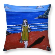 Beach Chic Throw Pillow