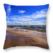 Beach Combing Throw Pillow
