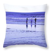 Beach Day Afternoon Throw Pillow