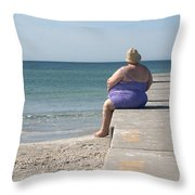 Beach Dreamer Throw Pillow