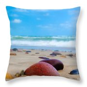 Beach Dreams In Skagen Throw Pillow by Inge Johnsson