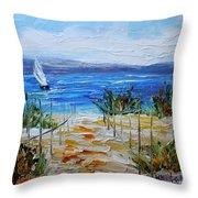Beach Dunes Summer's End Throw Pillow