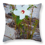Beach Flower Throw Pillow