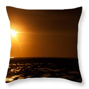 Beach From Low Angle Throw Pillow
