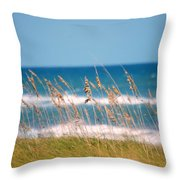 Beach Front 001 Throw Pillow