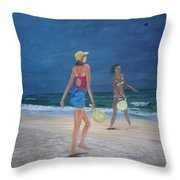 Beach Games Throw Pillow