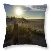Beach Glare Throw Pillow