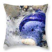Beach Glass In Flowing Water Throw Pillow